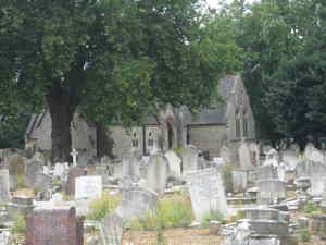 Queens Road Cemetery - View